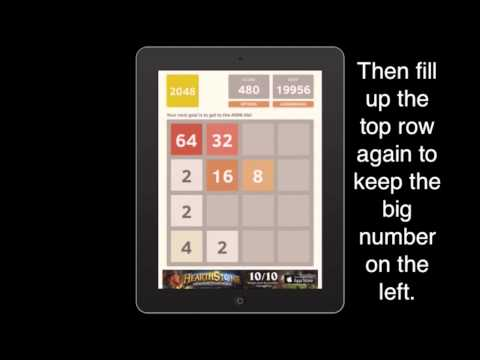 Learn how to win/beat 2048 in 2 minutes
