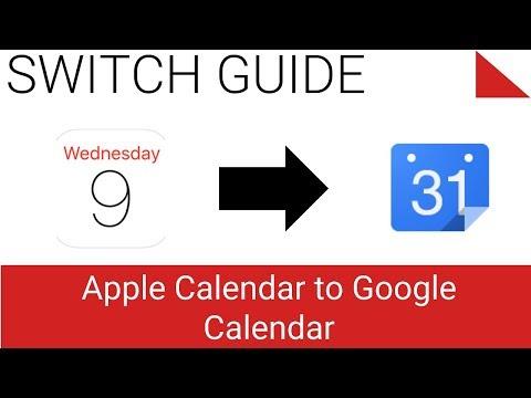 Move iCloud Calendar to Google Calendar