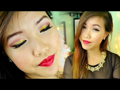 Holiday Sparkle Makeup Tutorial | Collab w/ Raven Nguyen