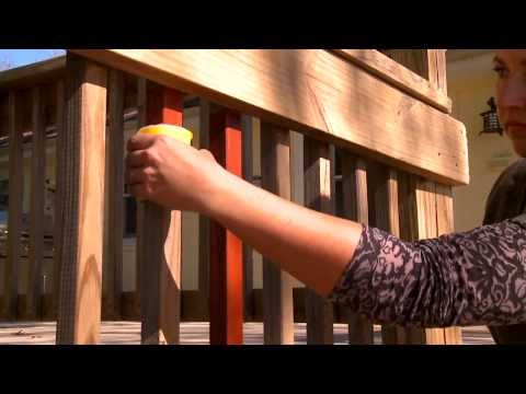 How to Stain Railing, Balausters, and Spindles - Woodmates® Countour Stain Applicator