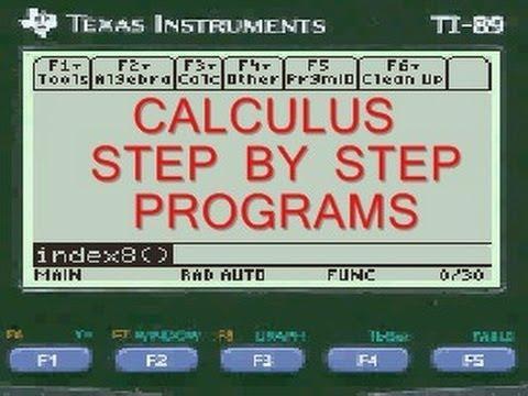 Difference Quotient, Calculus App, TI-89 Titanium
