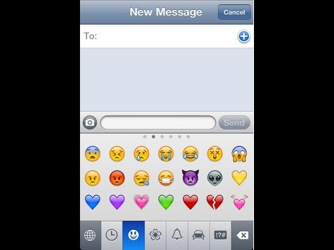How to get Emoji Emoticons on your iPhone 6, iPhone 5, iPhone, iPad or iPod
