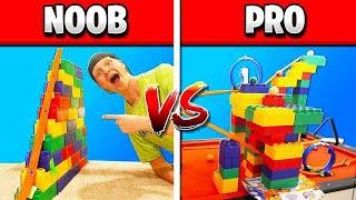 NOOB vs PRO HOT WHEELS RACE TRACK CHALLENGE!