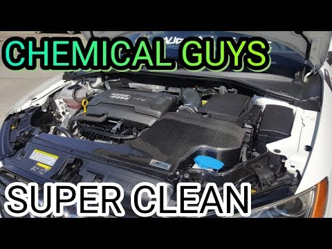 Chemical  Guys/ HOW TO SUPER CLEAN YOUR ENGINE BAY/2016 AUDI A3 VLOG#32