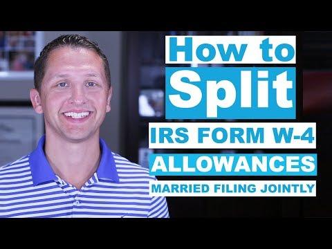 How to Split W-4 Allowances?