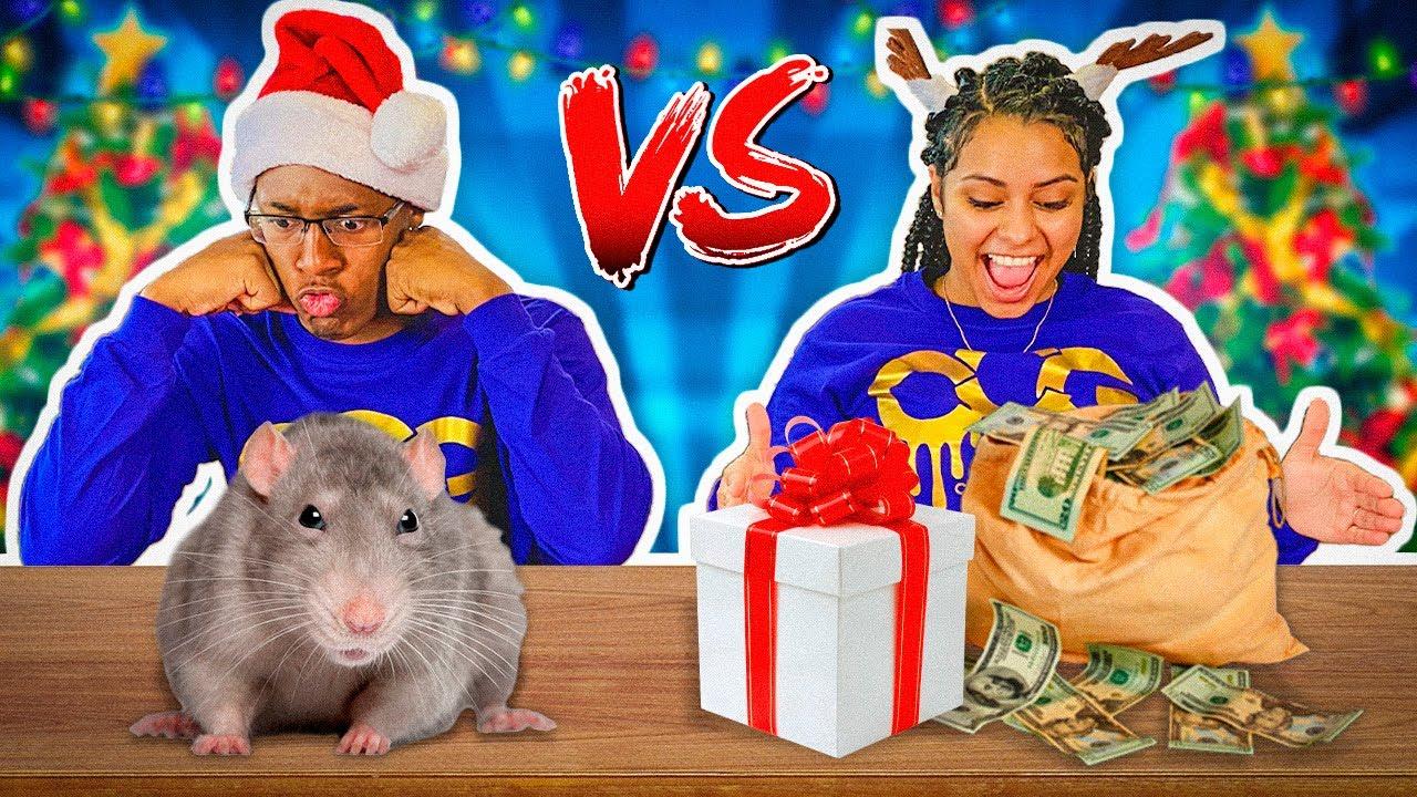 NAUGHTY VS NICE CHRISTMAS BOX CHALLENGE | VLOGMAS DAY 17