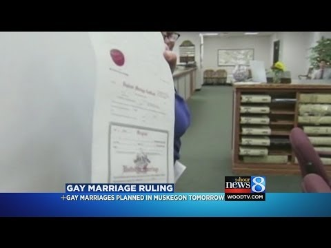 Same-sex marriage license planned in Muskegon County