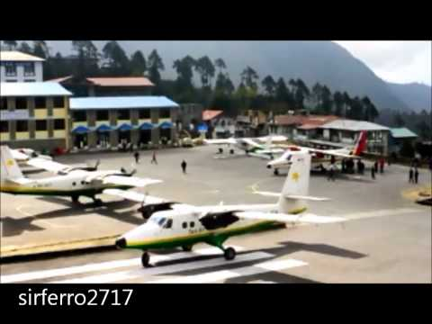 Most dangerous ,extreme, intense and critical airport in the world Lukla - Nepal (hd)