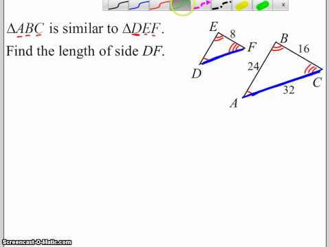 Find a Side Length in Similar Triangles