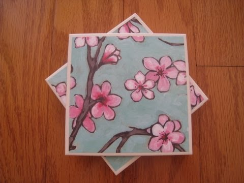 How to make a ceramic tile coaster set