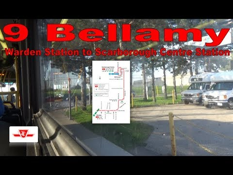 9 Bellamy - TTC 2010 Orion VII NG 8147 (Warden Station to Scarborough Centre Station)