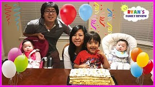Happy Birthday Mommy! Family Fun  Surprise Presents and Birthday Party with Ryan