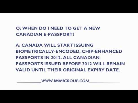 When Do I Need To Get A New Canadian E-Passport?