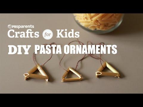 DIY Pasta Ornaments | PBS Parents | Crafts for Kids