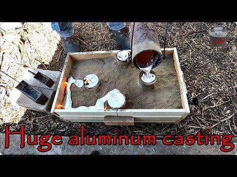 Huge aluminum casting - 4 risers. Hanger