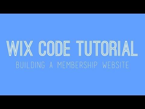 Building a membership website in Wix - Wix My Website Tutorial