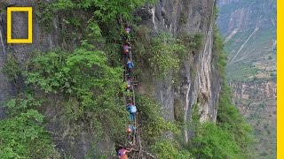 Would You Send Your Kid on a Deadly Climb to School? Here, It Happens | National Geographic