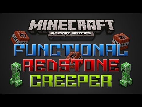 Functional Redstone Creeper - Minecraft Pocket Edition