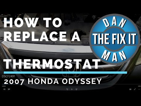 2007 HONDA ODYSSEY THERMOSTAT REPLACEMENT - DIY