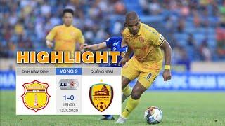"""Highlights DNH Nam Định vs Quảng Nam - Nam Định thắng Knock-out xóa tan """"yểm bùa"""""""