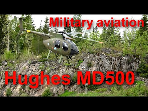 Hughes 500 Helicopter airshow flight-Military Helicopter solo flight