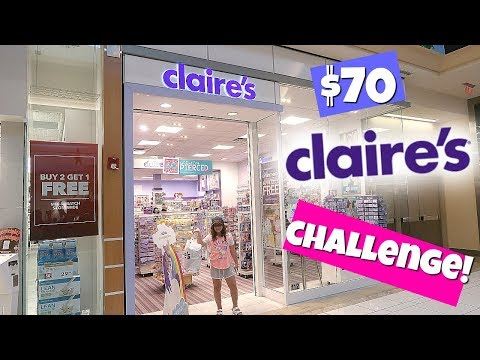 $70 CLAIRE'S SHOPPING CHALLENGE!
