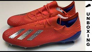 e3fe3f3e222f adidas X 18.1 SG Exhibit - Action Red Silver Metallic Bold Blue
