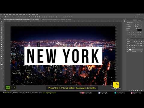 How to Make Transparent Text in Adobe Photoshop (CC/CS6/CS5)