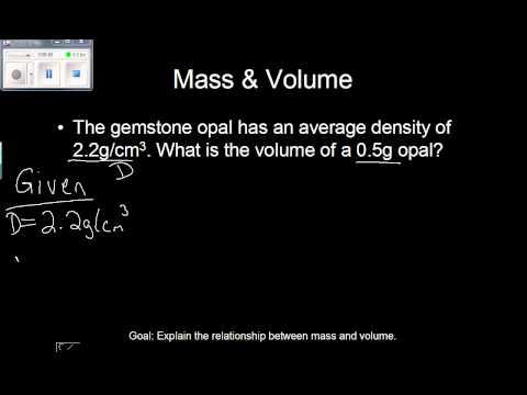 Mass, Volume, and Density