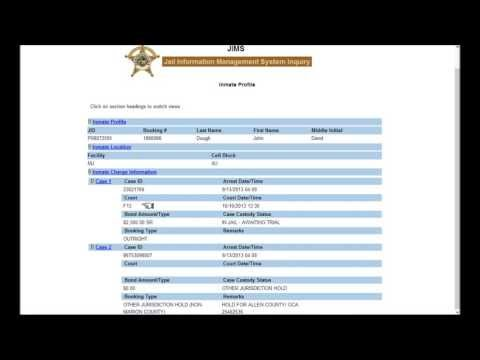 Marion County Jail Indiana Inmate Search Demonstration