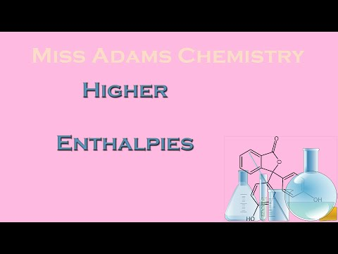 Higher:  Enthalpy calculations