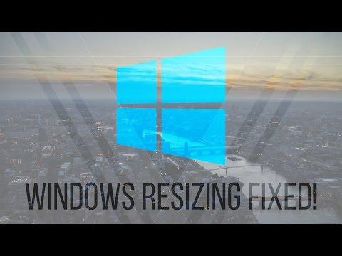 Windows Resizing Issue on Wakeup - Fixed!