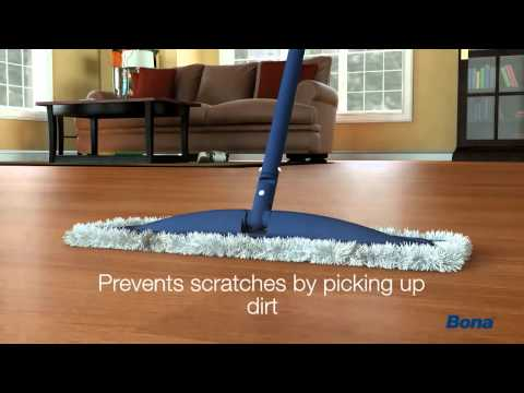 How to dust hardwood floors with Bona