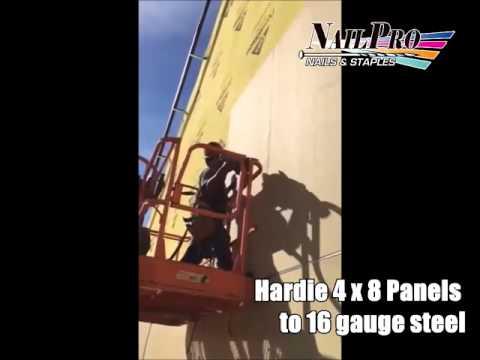 Hardie 4 x 8 Panels to 16 gauge steel