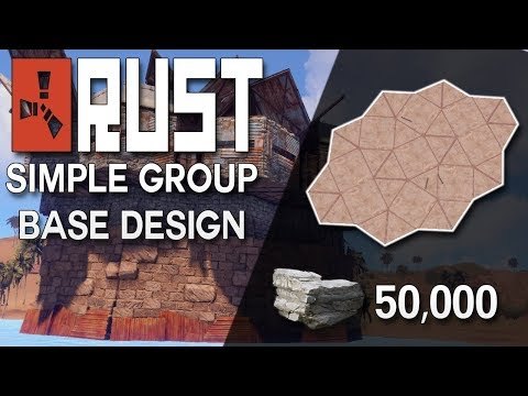 SIMPLE AND CHEAP Rust Group Base Design - Rust Base Building (49,350 Stone)
