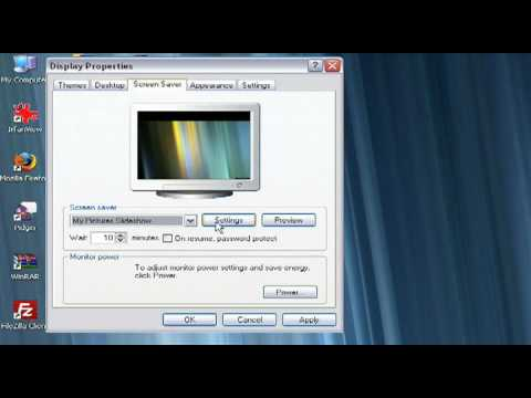 How to create a personalized screen saver in Windows XP