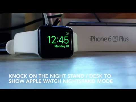 Knock to Show the Apple Watch Clock in Nightstand Mode