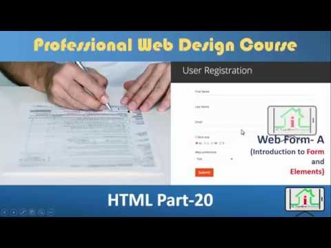 HTML 5 Bangla| (User Registration Form and  Elements: A) Part- 20