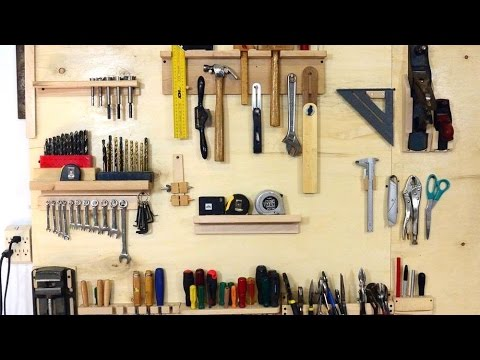 Wall tool holders for mallets and hand planes