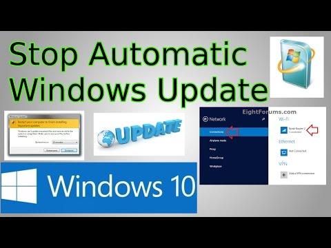 Windows 10: Stop Automatic Updates & Restarts