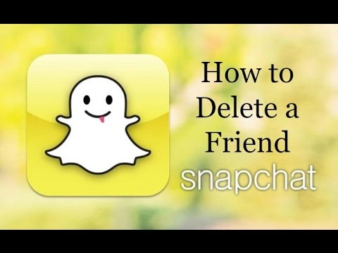 How to Delete a Friend on Snapchat