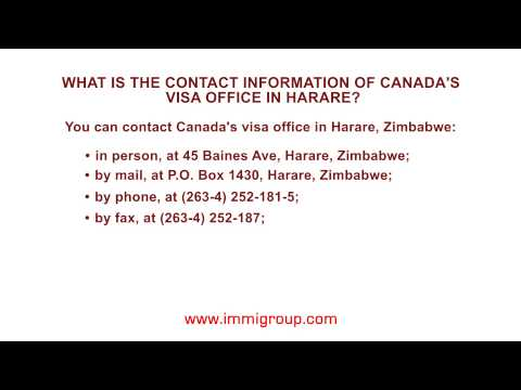 What is the contact information of Canada's visa office in Harare?