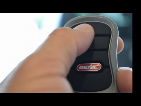 Genie 3 Button Remote Programming Replaces Old Style Remotes