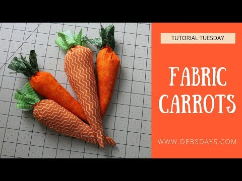 DIY Fabric Carrots Spring Project to Sew