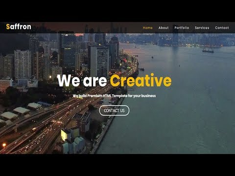 Simple Homepage design with video Background | Homepage video background