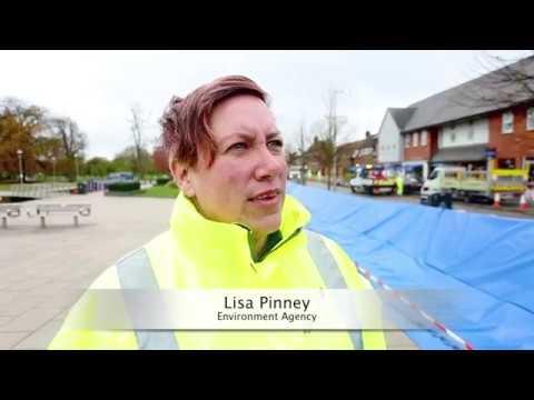 Stratford-upon-Avon flood exercise