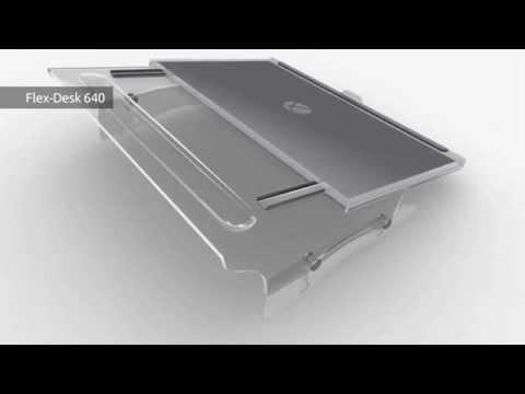 BakkerElkhuizen Document Holder Flex Desk 640 product animation