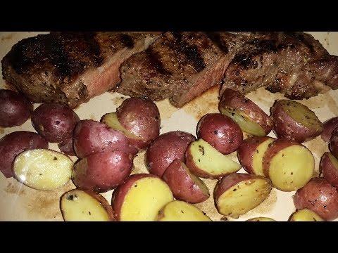 Lamb Steak & Garlic Potatoes On The Grill!