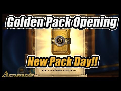 Golden Classic Pack Opening! - Get Your Free Golden Hearthstone Pack On New Pack Day