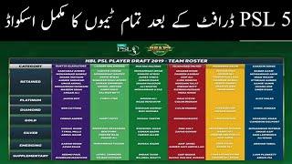 PSL 2020 all teams full squad | All teams Squad for Pakistan super league 2020